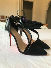 Kurt Geiger Carvela Black Suede & Leather Stilettos Womens Shoes BRAND NEW