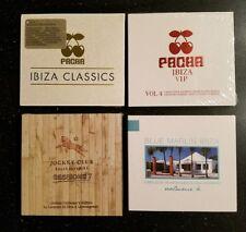 Pacha Ibiza Classics & VIP Vol.4 + Blue Marlin Vol.4 + Jockey Club #7 4x CD Lot