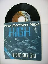 """PETER MOESSER'S MUSIC - HIGH - 7"""" VINYL EXCELLENT CONDITION 1977 ITALY"""