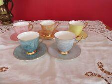 Stunning Royal Albert Gossamer bone china Small /Coffee Tea Cups & saucers x 5