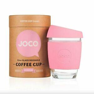 JOCO Glass Reusable Cup - 12 oz Strawberry Pink