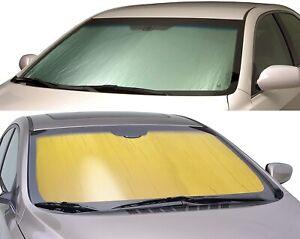 SILVER GOLD Custom Fit Sun Shade for Alfa Romeo Windshield Heat SunScreen Shield