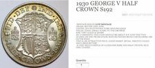1930  HALF CROWN GEORGE V , KEY DATE , NEAR, UNC,