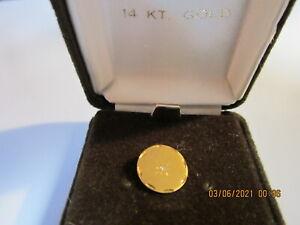 Gold 14k with Diamond Tie Clip -Vintage