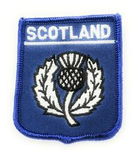 Scotland Rugby Thistle Shield Embroidered Sew on patch - FREE UK P&P