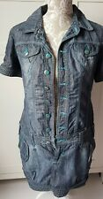 Embroidered Bonny Jeans denim dress Size 10