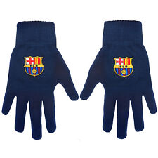 FC Barcelona Official Gift Knitted Gloves Navy