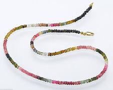 Unbehandelte Echtschmuck-Halsketten mit Turmalin-Hauptstein für Damen