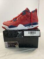 "Nike Air Jordan IV 4 Retro ""FIBA"" 408452-617 GS size 5Y"