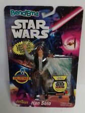STAR WARS - Bend Ems Han Solo Action Figure Justoys Lucasfilm 1994 Toy Figure