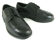 Drew Men's Shoes Black Leather Orthopedic Diabetic Medical Wingtip Dress 10W