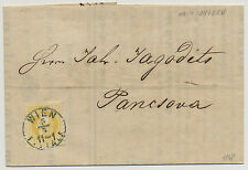 1868 2kr, HELLGELB! DRUCKSACHE (Preisliste) BLAUSTEMPEL WIEN/FILIALA - UNGARN