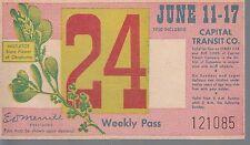 Trolly/Bus pass capital Transit Wash. DC--1950 Misletoe-----30