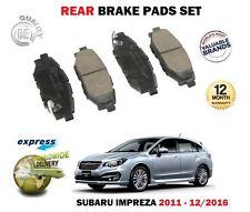 para Subaru Impreza 1.6 2.0 2011-12/2016 NUEVO PASTILLAS DE FRENO TRASERO SET