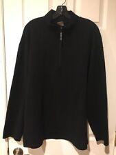 The North Face Men's Black Long Sleeve Mock Neck 1/4 Zip Pullover XL EUC
