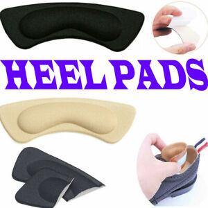 2 Pair Heel Pads Heal Comforter Grips Liner Cushions Self-adhesive Protector Gel