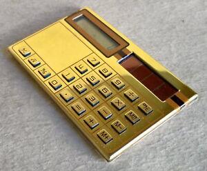 1970's Vintage Credit Card Sized / Pocket Calculator – Solar Powered w/ Case