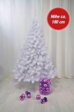 Künstlicher Weihnachtsbaum weiß Tannenbaum Christbaum Kunstbaum Kunststoff 180cm