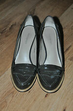 M&S AUTOGRAPH Green  Patent leather court  heels shoe size UK 5