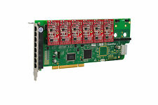 OpenVox A800P06 8 Port Analog PCI Base Card + 0 FXS + 6 FXO, Ethernet (RJ45)