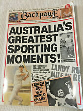 Backpage book - Australia's Greatest Sporting Moments - Ian Heads