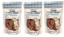 3 X Trader Joe's Salmon & Sweet Potato Dog Treats 4oz Dogs Love These! FRESH NEW