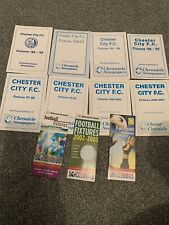 11 CHESTER CITY FC FIXTURE CARDS 88/9 To 2003/4