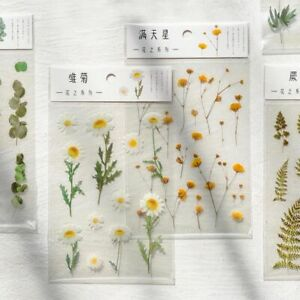Daisy Clover Stickers Transparent PET  Material Plants Deco Sticker Aesthetic