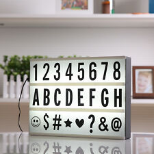 A4 Size Cinematic Light Box Cinema LED Letter Lamp Party Wedding Home Decor Gift