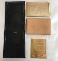 NOS Amiity Director Billfold Bifold Wallet Mens Black Leather Organizer Slim USA