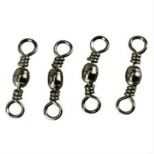 100 Pcs Stainless Brass Barrel Swivel Connector Solid Rings Fishing Lures #8