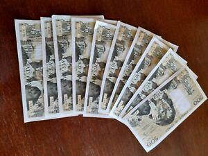 lot 10 billets de 500 francs pascal