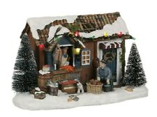 Luville fish shop, Christmas Village, Christmas decoration, model making