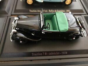 Citroën Traction 7B cabriolet 1934 Saga des tractions Atlas n°19 Norev UH