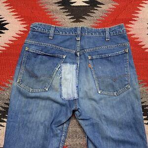 Vintage Levis Bell Bottom Flared Jeans 646 Size 34x32 Orange Tab 70s 80s Scovill