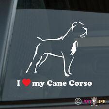 I Love My Cane Corso Sticker Die Cut Vinyl - v2