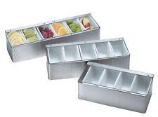 Stainless Steel Condiment Holder 4 5 6 Compartments Storage Unit Dispenser Bar