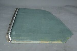 Mercedes W123 C123 Coupe Rear  Driver  Side Window Glass With Chrome