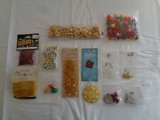 Mixed lot of Beads/Findings: Rocaille, Glass, Rosary Chain, Charms, Gold Chain