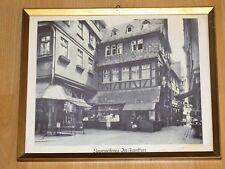Frankfurter Altstadt Wilhelm Musch Schirn am Rothen Markt am Haus Foto gerahmt