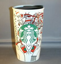 2017 starbucks christmas to go cup 12 oz. ceramic tumbler  NWT