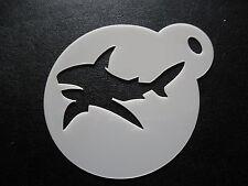 Corte láser Pastel de diseño de tiburón pequeño, Cookie, Craft & Plantilla de Pintura de cara
