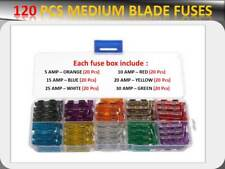 Pack 120pcs Autos Medium Blade Sicherungen Box 5 10 15 20 25 30 Amp UK Verkäufer