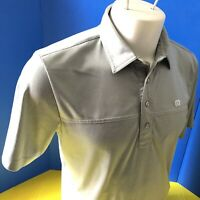 Travis Mathew TM mens Golf Polo Shirt size M Short Sleeve gray UNITED CAPITAL