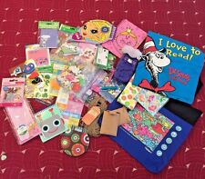 GIRL'S GRAB BAG STICKERS NOTE PADS WEBKINZ TRADING CARDS BAGS TATTOOS PLUS??