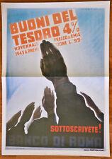 """Manifesto poster murale propaganda fascista - """"BUONI DEL TESORO"""""""