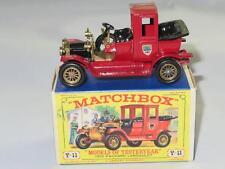 Modelos Matchbox de antaño Y-11 1912 Packard Landaulet VVNM D3 tipo caja de 1964