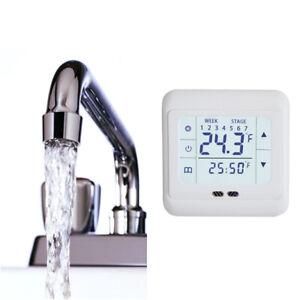 Réglable Numérique Thermostat d'ambiance Programmable sans fil avec Écran LCD