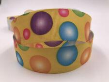 5 Yard 1'' 25Mm balloon Printed Grosgrain Ribbon Hair Bow Sewing Crafts Ribbon