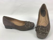 Earth Shoes BrushCherry Dark Taupe Wedge Womens Size 7 B